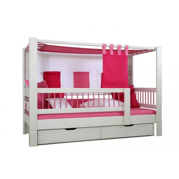 lit enfant bas baldaquin tric trac bambins d co. Black Bedroom Furniture Sets. Home Design Ideas