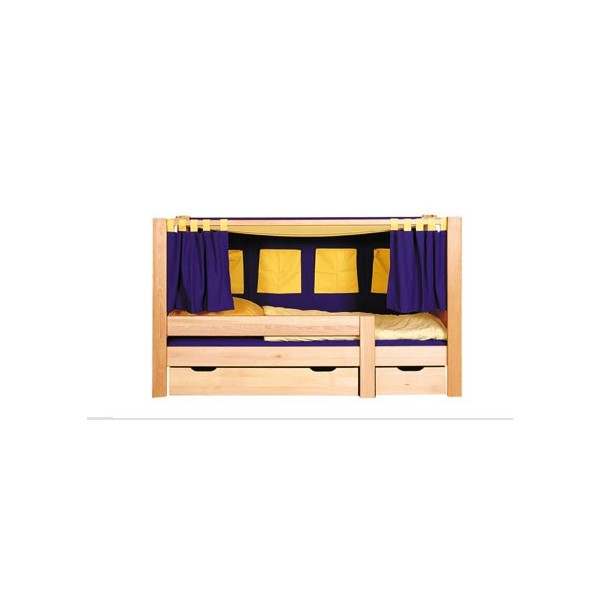 lit enfant bas baldaquin deluxe bambins d co. Black Bedroom Furniture Sets. Home Design Ideas
