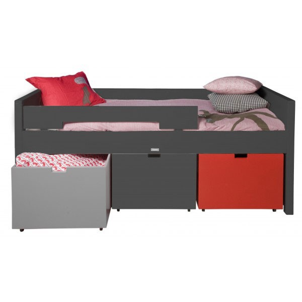lit enfant mix et match compact anthracite bambins d co. Black Bedroom Furniture Sets. Home Design Ideas