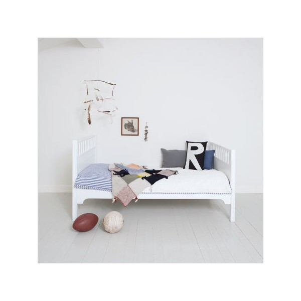lit enfant blanc 90x160 seaside bambins d co. Black Bedroom Furniture Sets. Home Design Ideas
