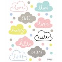 Stickers nuages multi pastel