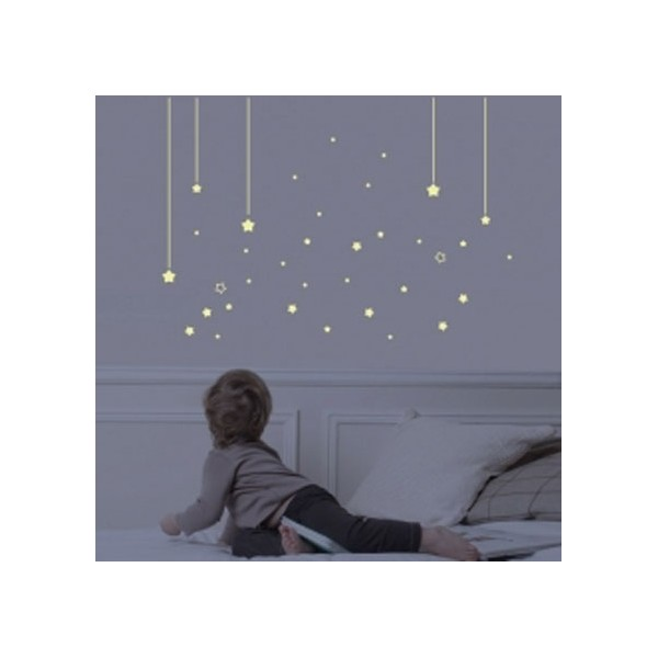 sticker chambre enfant phosphorescent mur d 39 toiles bambins d co. Black Bedroom Furniture Sets. Home Design Ideas