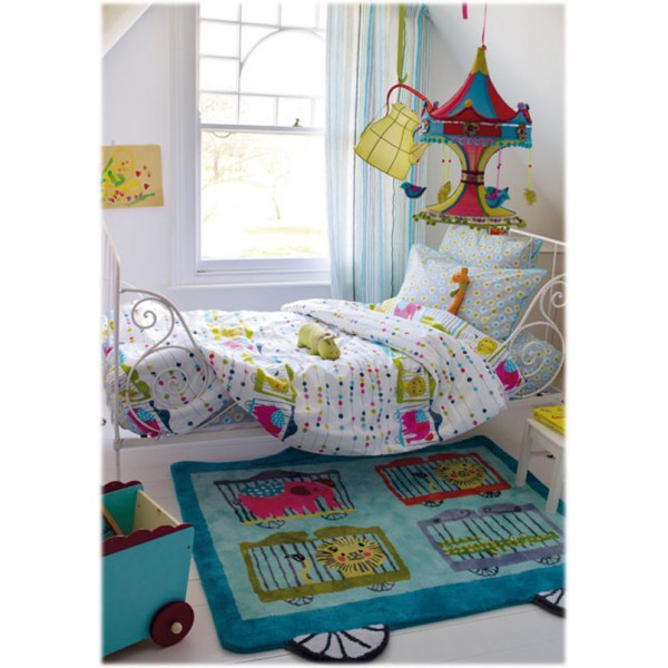 drap housse enfant circus parade bambins d co. Black Bedroom Furniture Sets. Home Design Ideas