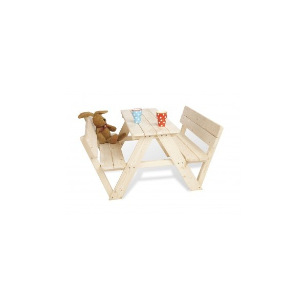 table de jardin nicki avec dossier pour enfant bambins d co. Black Bedroom Furniture Sets. Home Design Ideas