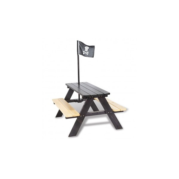 table de jardin pour enfant pirate bambins d co. Black Bedroom Furniture Sets. Home Design Ideas