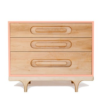 Commode bébé design Caravan rose