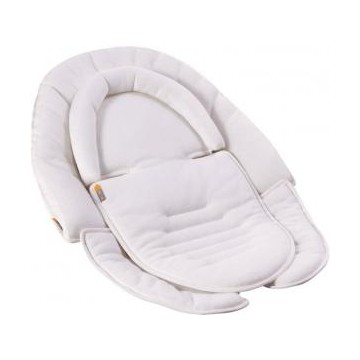 Trona bloom fresco chrome blanca coconut white marcabloom for Chaise haute pour bb