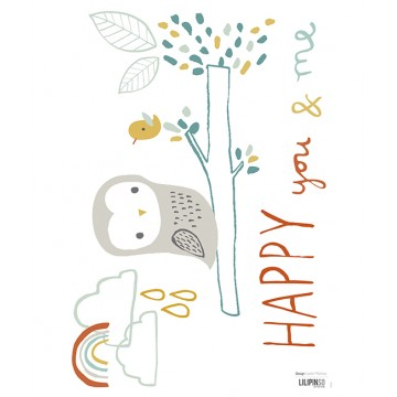 Sticker enfant hibou