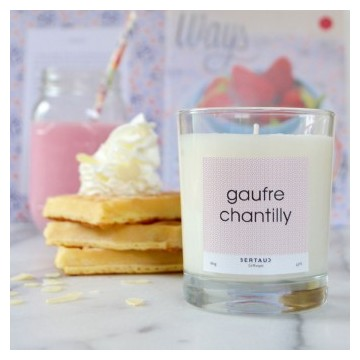 Bougie gaufre chantilly