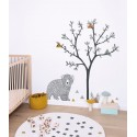 Sticker arbre XL et triangle En chanted